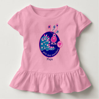 Cute Customizable Funny Little Pink Girl Monsters Tshirt