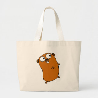 cute customizable gopher large tote bag