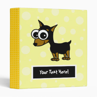 Cute Customizable Minpin Binder - Yellow