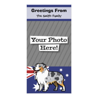 Cute Customizable Pet on Country Flag Photo Card