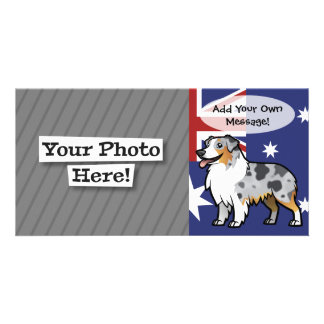 Cute Customizable Pet on Country Flag Picture Card