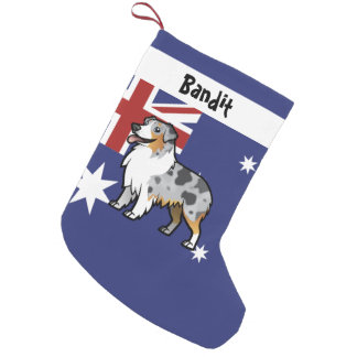 Cute Customizable Pet on Country Flag Small Christmas Stocking
