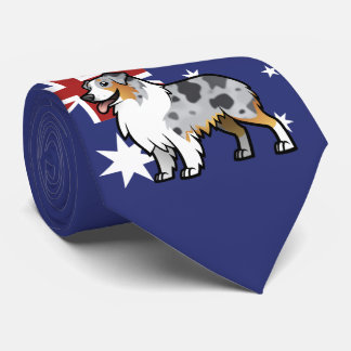 Cute Customizable Pet on Country Flag Tie