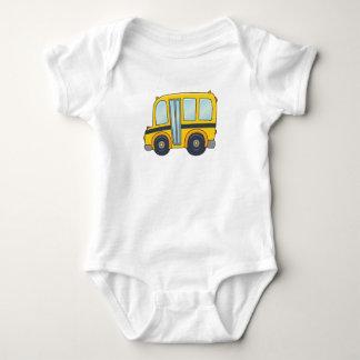 Cute Customizable School Bus Baby Bodysuit