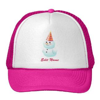 Cute Customized Snowman Lady Trucker Hat