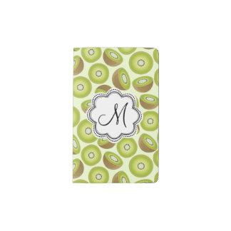 Cute Cut Kiwi Pattern Pocket Moleskine Notebook