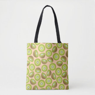 Cute Cut Kiwi Pattern Tote Bag