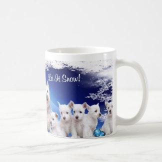 Cute, cute! Westie Puppy Let It Snow Coffee Mug