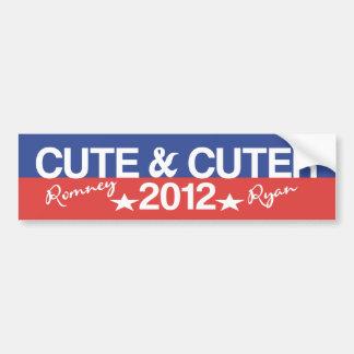 Cute Cuter 2012 - Funny Romney Ryan Bumper Sticker