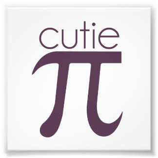 Cute Cutie Pie Pi Photo Print