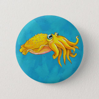 Cute Cuttlefish Button