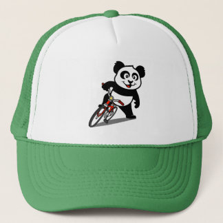 Cute Cycling Panda Trucker Hat