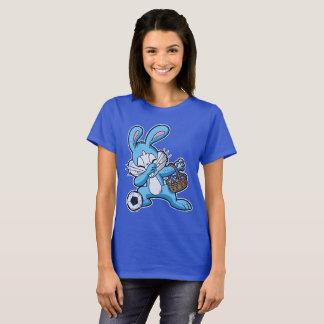 Cute Dabbing Easter Bunny Soccer Dab T-Shirt