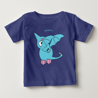 Cute Dabbing Flying Funny Pterodactyl Dinosaur Baby T-Shirt