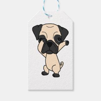 Cute Dabbing Pug Gift Tags