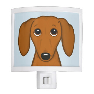 Cute Dachshund | Cartoon Wiener Dog Night Light