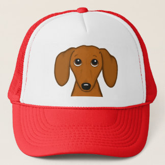 Cute Dachshund | Cartoon Wiener Dog Trucker Hat