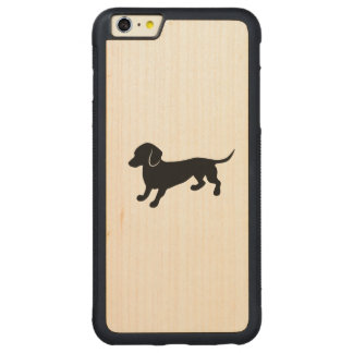 Cute Dachshund Carved® Maple iPhone 6 Plus Bumper Case