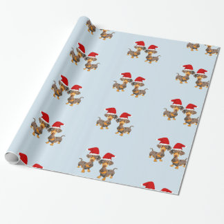 Cute Dachshund Christmas Wrapping Paper