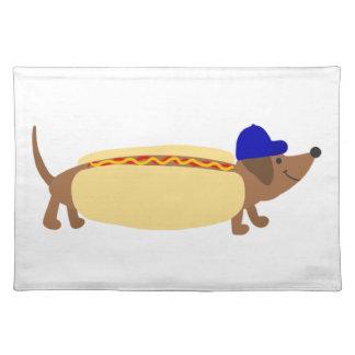Cute Dachshund Dog in a Hotdog Bun Placemat