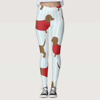 Cute Dachshund Dog Print Leggings