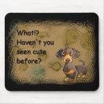 cute dachshund mouse pad