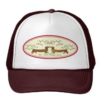 Cute Dachshund Not Just Puppy Love Design Trucker Hat