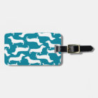 Cute Dachshund Pattern Perfect Gift for Doxie Love Luggage Tag
