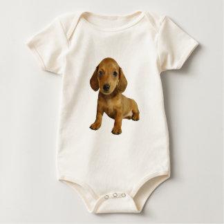 Cute Dachshund Puppies ( Brown) Baby Bodysuit