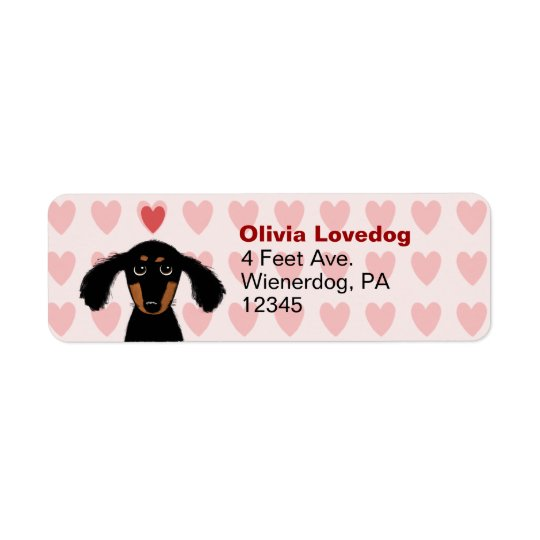 Cute Dachshund Valentine Love Return Address Return Address Label