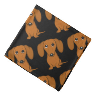 Cute Dachshunds Pattern Bandana