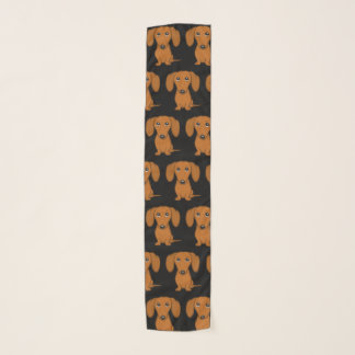 Cute Dachshunds Pattern Scarf