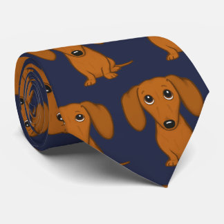 Cute Dachshunds Pattern Tie