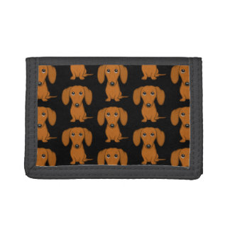 Cute Dachshunds Pattern Trifold Wallet