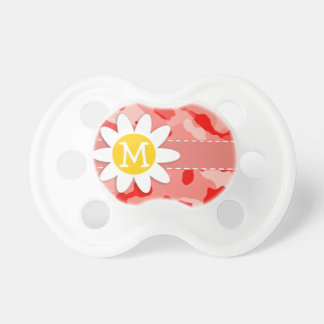 Cute Daisy; Coral Pink Camo; Camouflage Pacifiers
