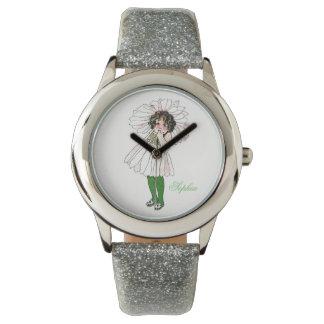 Cute Daisy Flower Child Floral Funny Little Girl Wristwatch