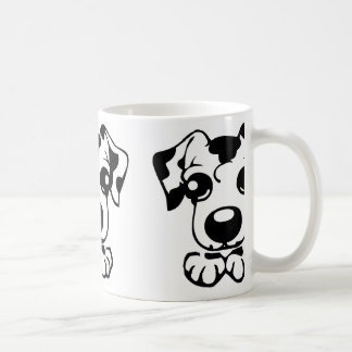 cute dal toon peeking coffee mug