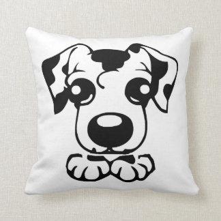 cute dal toon peeking throw pillow