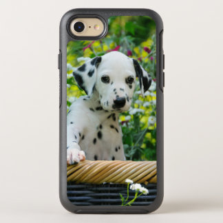 Cute Dalmatian Dog Puppy Portrait Phoneprotection OtterBox Symmetry iPhone 8/7 Case