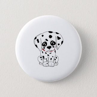 Cute Dalmatian puppy 2 Inch Round Button