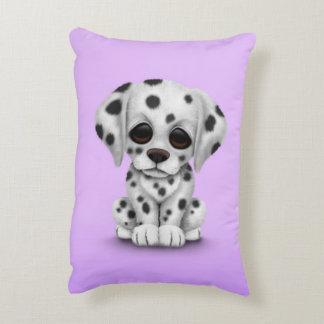 Cute Dalmatian Puppy Dog on Purple Decorative Pillow