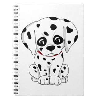 Cute Dalmatian puppy Notebooks