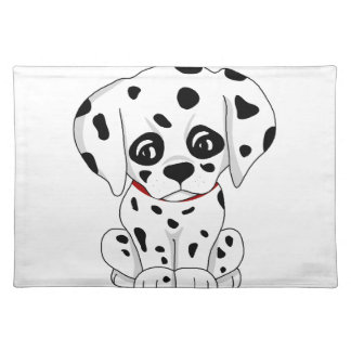 Cute Dalmatian puppy Placemat
