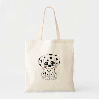 Cute Dalmatian puppy Tote Bag