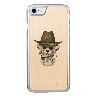 Cute Dalmatian Puppy Zombie Hunter Carved iPhone 8/7 Case