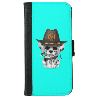 Cute Dalmatian Puppy Zombie Hunter iPhone 6 Wallet Case