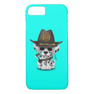 Cute Dalmatian Puppy Zombie Hunter iPhone 8/7 Case