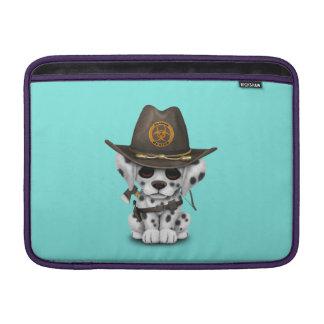 Cute Dalmatian Puppy Zombie Hunter MacBook Sleeve