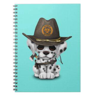 Cute Dalmatian Puppy Zombie Hunter Notebooks
