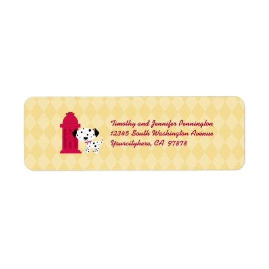 Cute dalmation dog and hydrant address labels